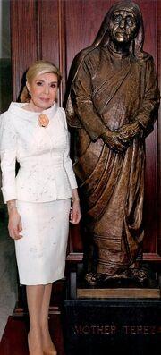 Μαριάννα Βαρδινογιάννη: Τιμήθηκε με το μετάλλιο της «Μητέρας Τερέζας»