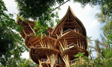 Σπίτι ή μήπως παλάτι φτιαγμένο με μπαμπού (video+photos)