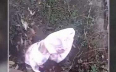 Θα ανατριχιάσετε! Δείτε τι βρήκε ένας άνδρας τυλιγμένο στο δρόμο για το σπίτι του (βίντεο)