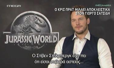 Όλα όσα είπε Chris Pratt στον Σατσίδη για το «Jurassic Park»