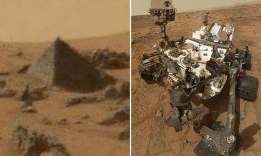 Πυραμίδα στον... Άρη εντόπισε το Curiosity Rover της NASA - Δείτε τη φωτογραφία!