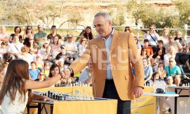 Ο Garry Kasparov έπαιξε σκάκι με Έλληνες Πρωταθλητές