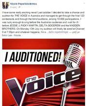 Παίκτρια ελληνικού talent show στο «The Voice» της Αυστραλίας