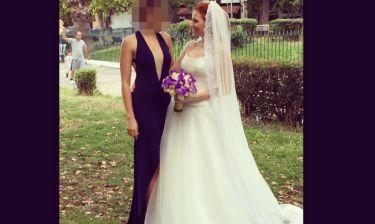 Γνωστή Ελληνίδα ηθοποιός έγινε κουμπάρα στο γάμο της αδελφής της