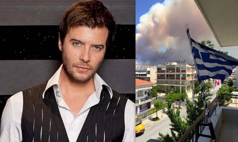 Σοκαρισμένος από την πυρκαγιά ο Λιβιεράτος - Φωτογραφίες από το μπαλκόνι του
