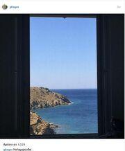 Δείτε ποια εικόνα βλέπει με το που ξυπνάει ο Γιώργος Λιάγκας στην Τήνο!