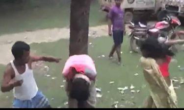 Έπιασαν στα χέρια τους τον επίδοξο βιαστή της κόρης τους και δείτε τι του έκαναν (video)