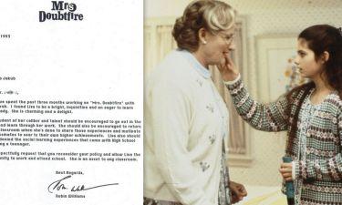 Το γράμμα του Robin Williams για την αποβολή της «κόρης» του στο Mrs Doudtfire