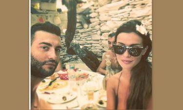 Θοδωρής Μισόκαλος – Χαριτίνη Ηλιάδου: Η selfie από το μεσημεριανό τους γεύμα