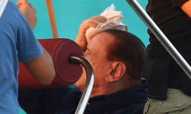 Ατύχημα στο κεφάλι  για τον Σίλβιο Μπερλουσκόνι