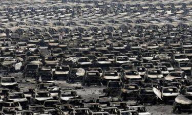 CNN - Κίνα: Eικόνες απόλυτης καταστροφής από το σημείο της έκρηξης (photos+video)