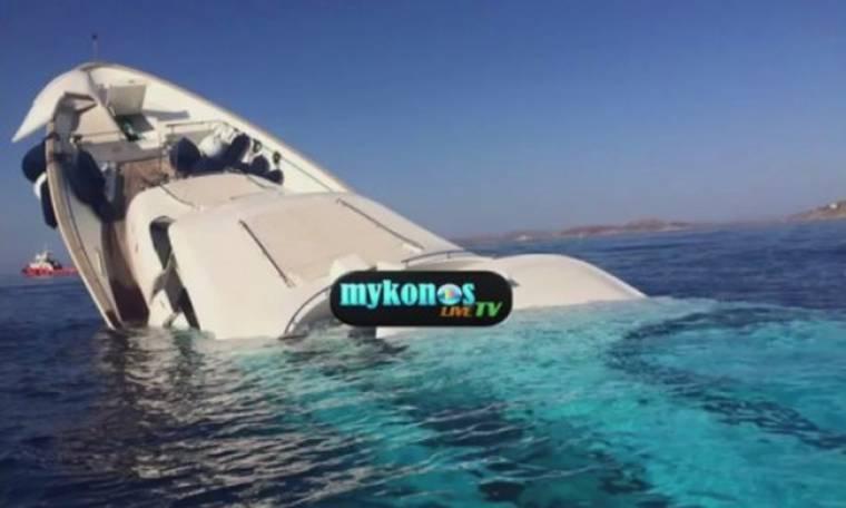 Βούλιαξε υπερπολυτελές σκάφος στη Μύκονο