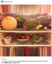 Το καλοκαίρι τρώει μόνο φρούτα η…