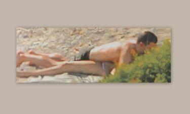 Νέες «καυτές» φωτογραφίες της Μπαλατσινού με το σύντροφο της στη παραλία