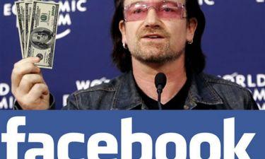 O Bono επένδυσε στο Facebook και έβγαλε… μια περιουσία