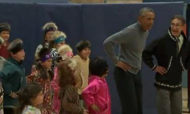 Ο… παραδοσιακός χορός του Obama
