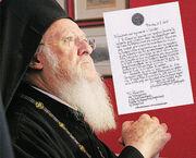 Η συγκινητική επιστολή του Βαρθολομαίου στον Παπαθεμελή