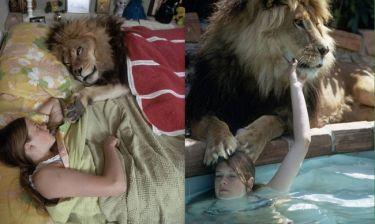 Απίστευτο! Η Melanie Griffith στα νιάτα της ζούσε με ένα λιοντάρι!