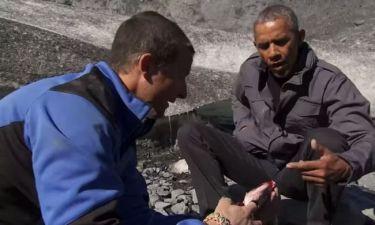 Ο Obama τρώει τα αποφάγια μιας… αρκούδας