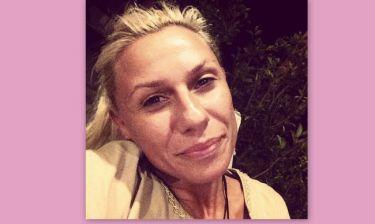 Κατερίνα Καραβάτου: Δίχως ίχνος μακιγιάζ και αρκετά κουρασμένη