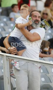Ο Γκουντάρας με τον γιο του στο γήπεδο