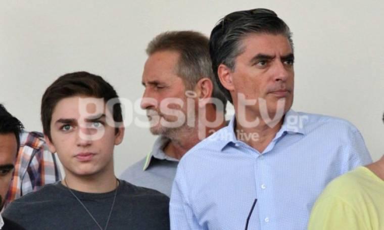 Ευαγγελάτος: Με τον γιο του στο γήπεδο