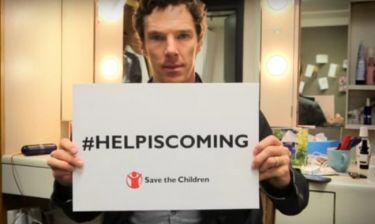 Το μήνυμα του Benedict Cumberbatch για τους πρόσφυγες