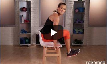 Το workout αυτό κάνει θαύματα: Αποκτήστε άψογο κορμί με τη βοήθεια μιας... καρέκλας