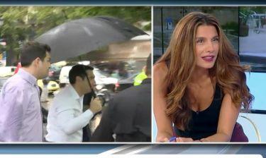 Το επικό σαρδάμ της Τσαπανίδου μόλις είδε τον Τσίπρα με την ομπρέλα