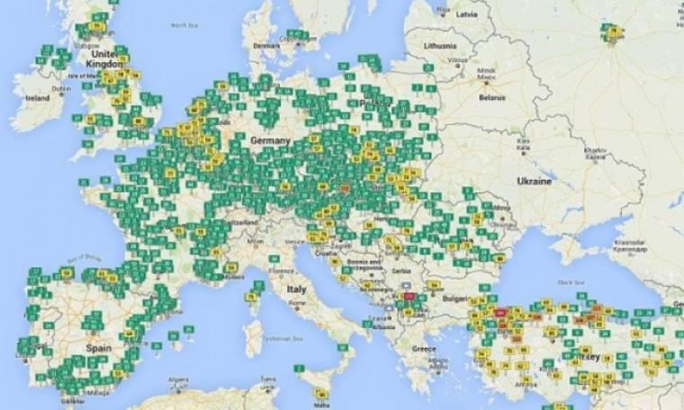 Επίπεδα ατμοσφαιρικής ρύπανσης στις μεγαλύτερες πόλεις του πλανήτη (διαδραστικός χάρτης)
