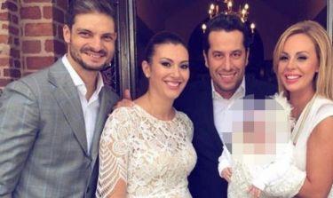 Άγγελος - Βαρβάρα Χαριστέα: Βάφτισαν την κόρη τους
