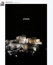 Ο Jared Leto βρίσκεται στην Αθήνα - Δείτε το tweet  του