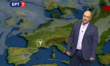 Lead in το δελτίο καιρού στο δελτίο ειδήσεων στην ΕΡΤ