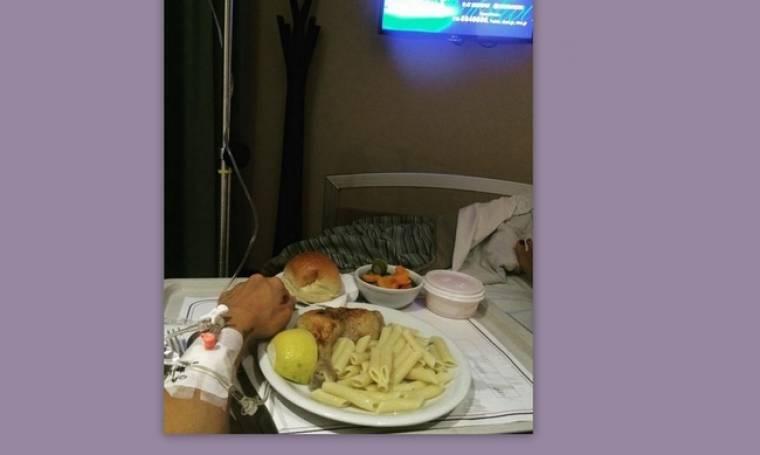 Γνωστή Ελληνίδα στο νοσοκομείο  (φωτό)