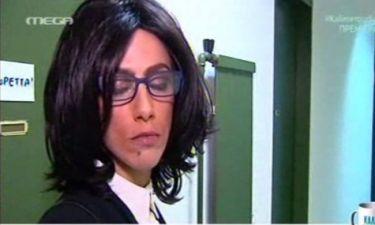 Κι όμως είναι η Ντορέττα Παπαδημητρίου και κάνει ρεπορτάζ!