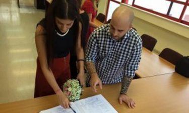 Μόνο εδώ: Παντρεύτηκαν πρίν απο λίγο στο Δημαρχείο της Καισαριανής (Nassos Blog)