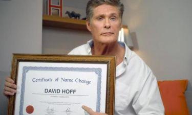 David Hasselhoff: Άλλαξε όνομα και πλέον τον λένε…