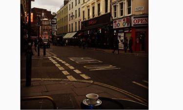 Οι μοναχικές του στιγμές στο Λονδίνο...