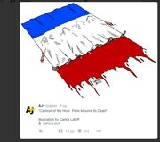Η θλίψη του Αλιάγα και οι φωτογραφίες και τα σκίτσα για το μακελειό στη Γαλλία