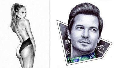 Από τραγουδίστρια στο Fame Story, ζωγράφος για πορτρέτα διασήμων!