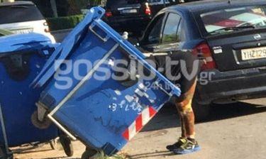 Παπαράτσι. Ελληνίδα τηλεπερσόνα ψάχνει τώρα στα σκουπίδια (Nassos blog)
