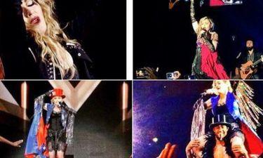 Η Madonna με σημαία της Barcelona