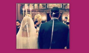 Ο λαμπερός γάμος ζευγαριού της ελληνικής showbiz (φωτό)