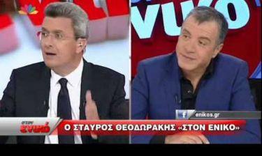 Άγριος καυγάς Χατζηνικολάου – Θεοδωράκη on air: «Λέτε ψέματα» - «Ντροπή σας» (vid)