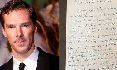 Η συγκλονιστική επιστολή του Cumberbatch στον Άγιο Βασίλη. Αξίζει να την διαβάσετε