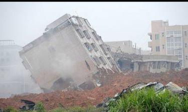 """Η λάσπη """"κατάπιε"""" 33 κτίρια στην Κίνα"""