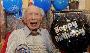 Το μυστικό της μακροζωίας από ένα Βρετανό ηλικίας 109 ετών!