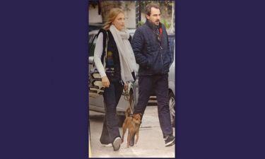 Νικόλαος-Τατιάνα: Στην Κηφισιά με τον σκύλο τους