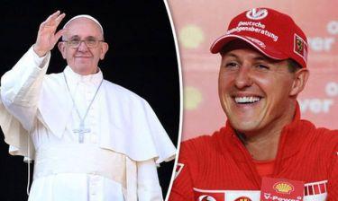 Ο Πάπας Φραγκίσκος προσεύχεται για τον Σουμάχερ!