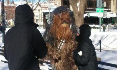 Ντύθηκαν Τζεντάι και βγήκαν στους δρόμους της Ουάσιγκτον για χιονοπόλεμο